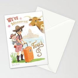 We Moved To Texas Stationery Cards