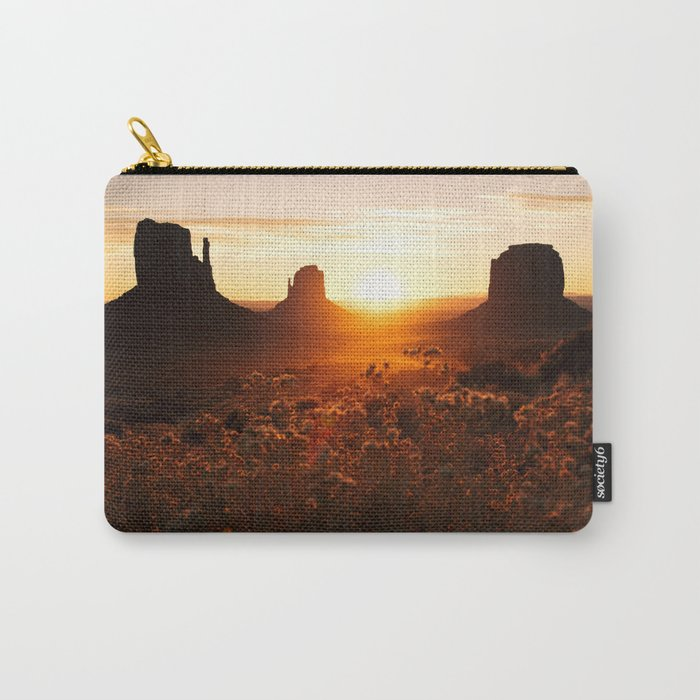 Sunrise in Monument Valley Carry-All Pouch
