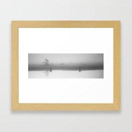 Reflecting on a Foggy Morning Framed Art Print