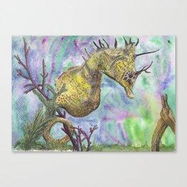 Seahorse Watercolor Canvas Print