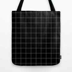 Black Grid /// www.pencilmeinstationery.com Tote Bag