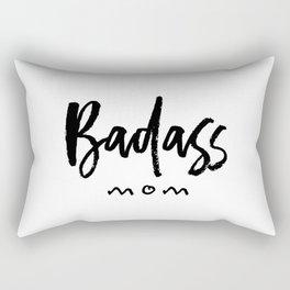 Badass mom Rectangular Pillow