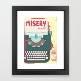 Misery, Horror, Movie Illustration, Stephen King, Kathy Bates, Rob Reiner, Classic book, cover Framed Art Print