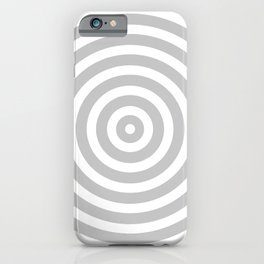 Circles (Gray & White Pattern) iPhone Case