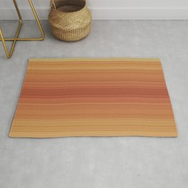 Orange Sunset Stripe Design Rug