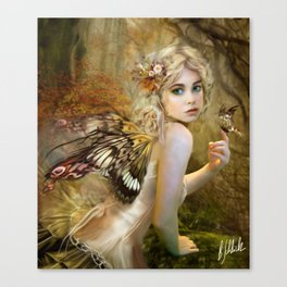 Touch of Gold - Fairy Canvas Print