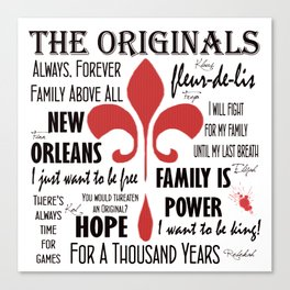The Originals inspired art print (White) Canvas Print