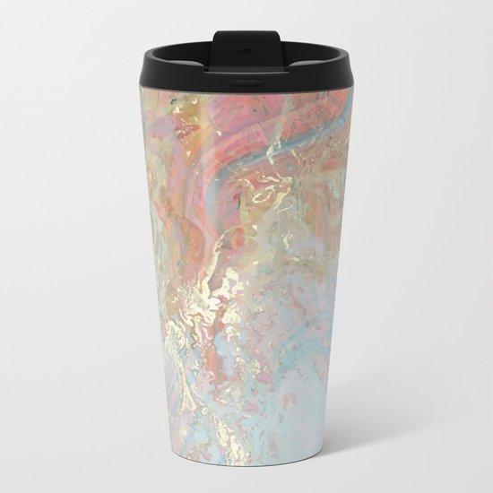 Marble Art V10 #society6 Metal Travel Mug