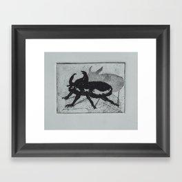Beetle Intaglio Framed Art Print