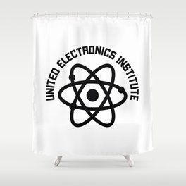 United Electronics Institute Shower Curtain