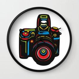 Black Camera Wall Clock