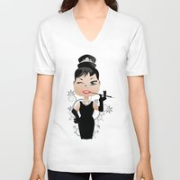 audrey V-neck T-shirts featuring Audrey by 7pk2 online