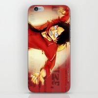luffy iPhone & iPod Skins featuring Luffy  by kimiyo