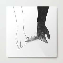 Souls talks first. Metal Print