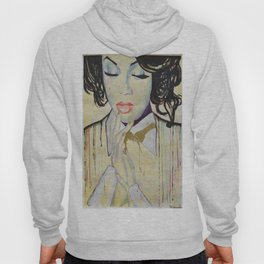 Colourful dripping ink portrait Hoody