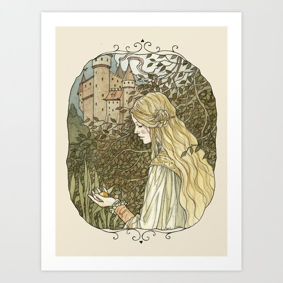 golden ball Art Print