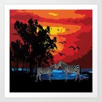 safari Art Prints featuring Safari  by Cindys