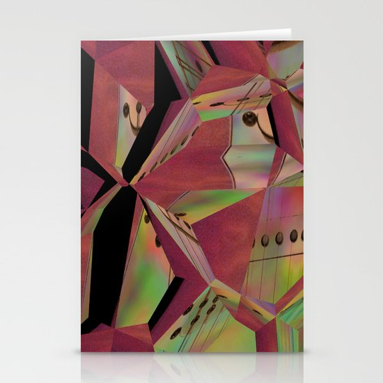 Pink Guitar Abstract Stationery Cards