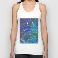 squirtle Tank Tops featuring Squirtle by pkarnold + The Cult Print Shop
