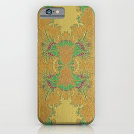 Golden Peacock Modern Abstract Pattern iPhone Case