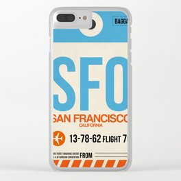 SFO San Francisco Luggage Tag 1 Clear iPhone Case