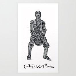 C-3-Free Throw! Art Print