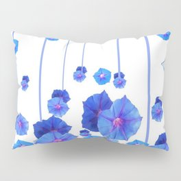 BABY BLUE MORNING GLORIES RAIN ABSTRACT ART Pillow Sham