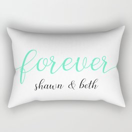 White Mint Forever Shawn and Beth Rectangular Pillow