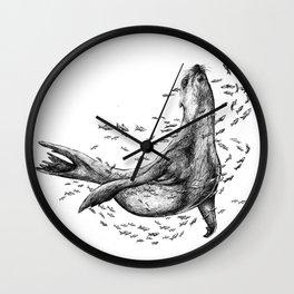 Seal and Fish Wall Clock
