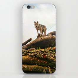 Wolfdog's point of view iPhone Skin