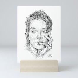 Pensive Girl Mini Art Print