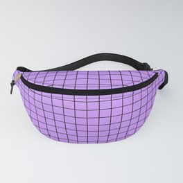 Grid Pattern - lavender and black - more colors Fanny Pack