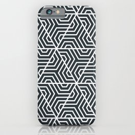 Gunmetal - blue - Geometric Seamless Triangles Pattern iPhone Case