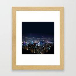 Hong Kong- Victoria Peak Framed Art Print