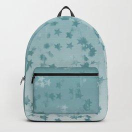 Aqua Falling Stars Ombre Backpack