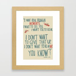 Waking Life - I don't want to be an ant Framed Art Print