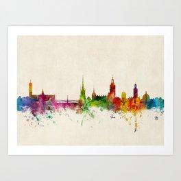 Stockholm Sweden Skyline Art Print