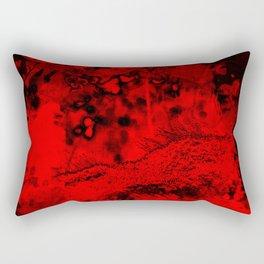 Moss growing in the fiery depths Rectangular Pillow