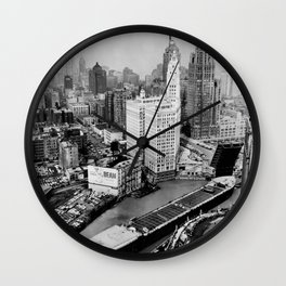 Largest travel Chicago River Chicago Illinois Wall Clock