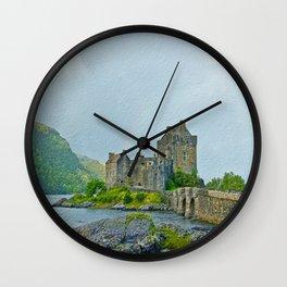 Eilean Donan Castle Textured 2 Wall Clock
