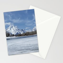 Grand Tetons and Snake River from Oxbow Bend Stationery Cards