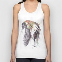 indiana Tank Tops featuring Indiana  by Megan Sheridan