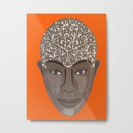 brown visage Metal Print