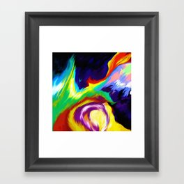 Burn Off Framed Art Print