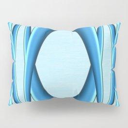 Two Tone Blue Modern Digital Art Pillow Sham