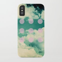 Clouds + Dots iPhone Case