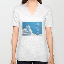 Sky's the limit - cloudscape Unisex V-Neck