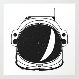Cosmonaut helmet Art Print