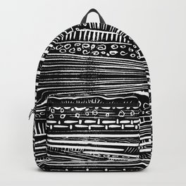 Linocut Tribal Pattern Backpack