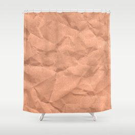 Kraft paper. crumpled paper Shower Curtain